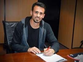 Sosa firmó recientemente su nuevo contrato con la 'Franja'. DanubioFC