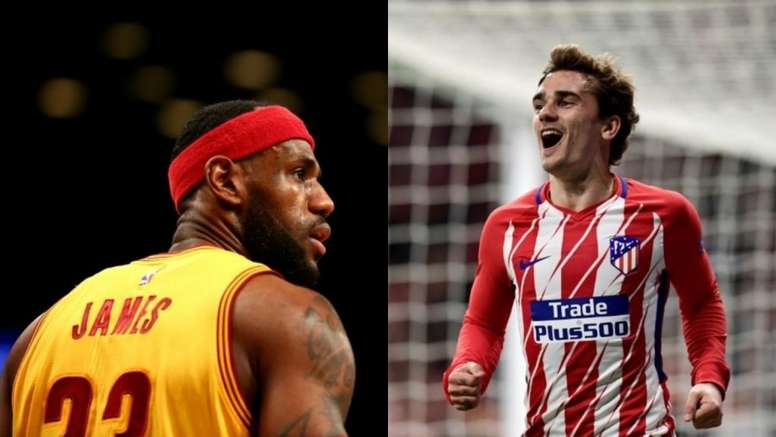 new style c15a7 8325f Griezmann copies one of LeBron James' worst stunts - BeSoccer