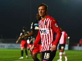 Lee Holmes, del Exeter City. Twitter