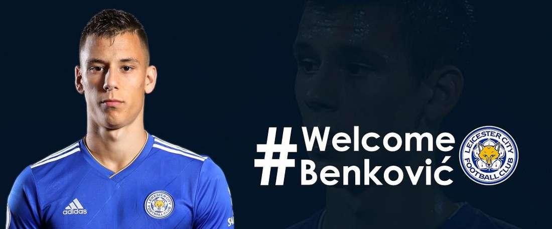 Benkovic a signé un contrat de cinq ans avec Leicester. LCFC