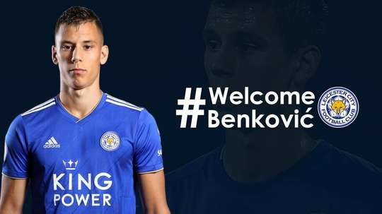 Benkovic joined Leicester City on deadline day. Twitter/LCFC