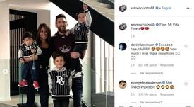 A foto familiar de Messi. Instagram/Antoroccuzzo88