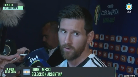 Messi prévient. Capture/TVPublica
