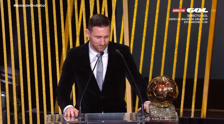 Lionel Messi wins the Ballon D'Or for a record-breaking 6th time. EFE