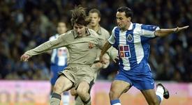 Leo Messi debutó en un amistoso ante el Oporto de José Mourinho. FCBarcelona