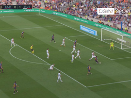 Messi equalises for Barca. Captura/beINSports