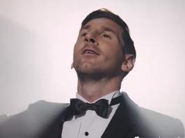 Messi pode virar ator. Twitter/ChampionsLeague