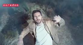 Messi, protagonista de un nuevo anuncio. Twitter/OoredooQatar