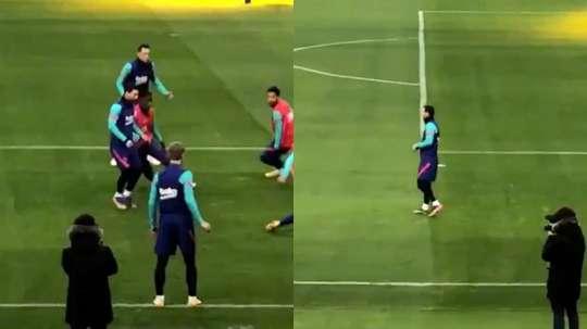Messi si allena con il gruppo. RFEF