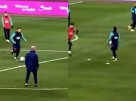 Messi entrenó. Capturas/RFEF