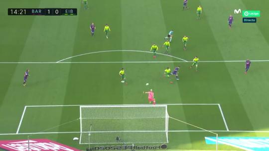 Messi retrouve le chemin des filets. Capture/MovistarLaLiga