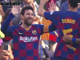 Messi signe un hat-trick après dont deux buts en trois minutes. Capture/Movistar+