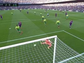 Messi also scored Barca's second goal. Captura/Movistar+