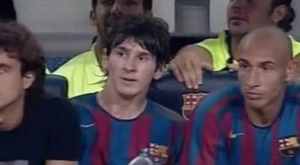 Messi began to show off his skills to the world in 2005. Captura/Youtube