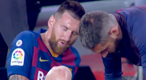 Messi got injured. Screenshot/ElGolazodeGOL
