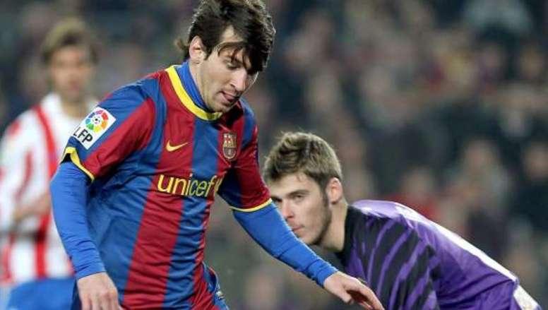 Leo Messi já marcou um hat-trick a De Gea. EFE