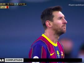 A primeira expulsão de Leo Messi com a camisa do Barcelona. Captura/Vamos