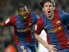 Inesquecível 'triplete' de Messi no Real. EFE