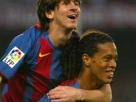 Messi n'a jamais quitté Barcelone. Twitter