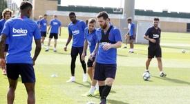 Le Barça, touché. Twitter/FCBarcelona_es