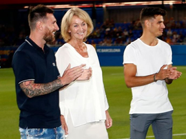 Leo Messi à l'inauguration du stade Johan Cruyff. Instagram/LeoMessi