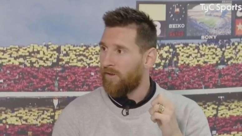 Messi falou sobre a Copa América, a Albiceleste e o VAR. Captura/TyCSports