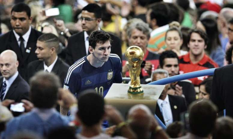 Messi, el único rescoldo de la final de 2014. AFP