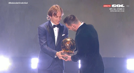 Las palabras de Modric a Messi tras el Balón de Oro. Captura/GOL