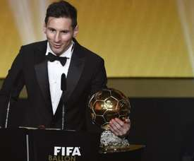 Messi a déjà cinq Ballons d'Or dans ses vitrines. EFE