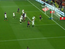 Leo Messi fez o golo do Barcelona. Captura/RTVE