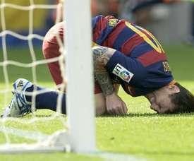 Dez anos depois, Messi perde a estreia na Liga. AFP