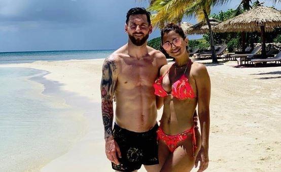 Messi curte as férias bem longe da pré-temporada. Instagram/LeoMessi