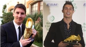 Leo Messi e Cristiano Ronaldo são recordistas na Chuteira de Ouro. BeSoccer