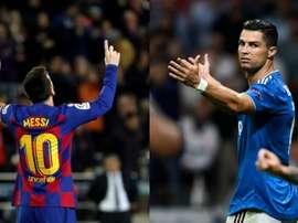 Pas même un buteur comme CR7 atteint la moyenne historique de Messi. AFP/EFE