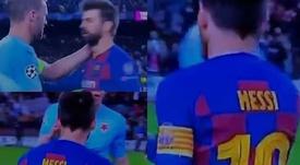 Messi e Piqué saludaram sim seus rivais após a partida. Capturas