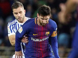 Le Barça a gagné après 11 années de défaites à Anoeta. EFE