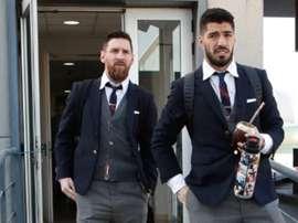 I due sudamericani Messi e Suarez, domani rivali a Gerusalemme. FCBarcelona