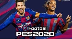 Messi, en la portada del PES 2020. Captura/FCBarcelona