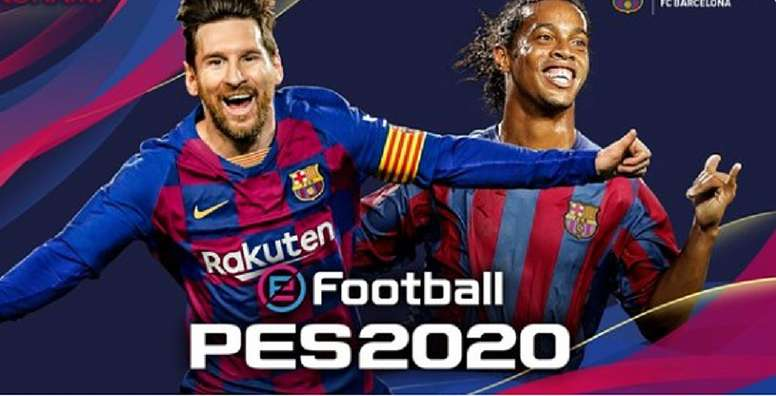 Messi and Ronaldinho will be on the cover of PES 2020. Captura/FCBarcelona