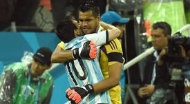 Sergio Romero tiene contrato hasta 2021. AFP