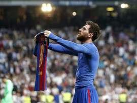 Em causa estão os 500 gols do argentino pelo 'Barça'. AFP