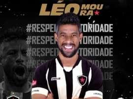 Léo Moura é o novo reforço do Botafogo da Paraíba. Instagram Botafogo-PB