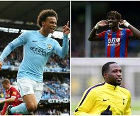 Leroy Sane, Wilfried Zaha and Moussa Sissoko. BeSoccer