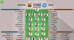 Les compos officielles du match de Ligue des champions entre le Barça et Naples. bEsOCCER