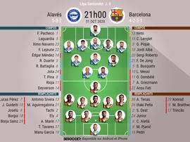 Les compos officielles du match Alavés - FC Barcelone. besoccer