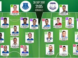 Official lineups for the Europa League clash between Everton and Apollon Limassol. BeSoccer