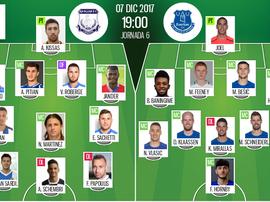 Les compos officielles du match d'Europa League entre l'Apollon Limassol et Everton. BeSoccer