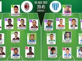 Les compos officielles du match de C3 entre le Milan AC et Craiova. Besoccer