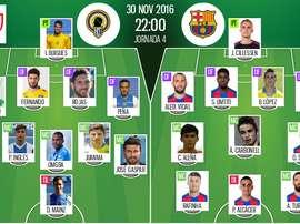 Les compos officielles du match de Copa Del Rey Barcelone-Hercules