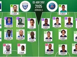 Les compos officielles du match de Coupe de France entre Avranches et le PSG. BeSoccer